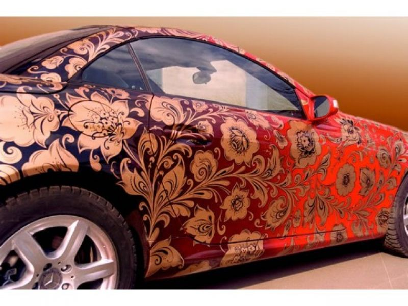 рисунки на автомобилях фото аэрография цена